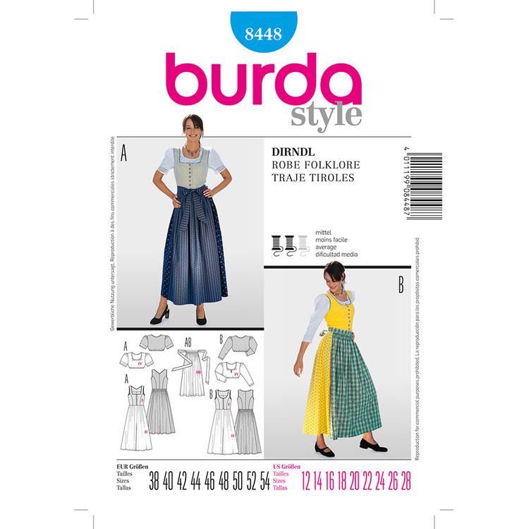 Burda Pattern 8448 Dirndl Dress Costume