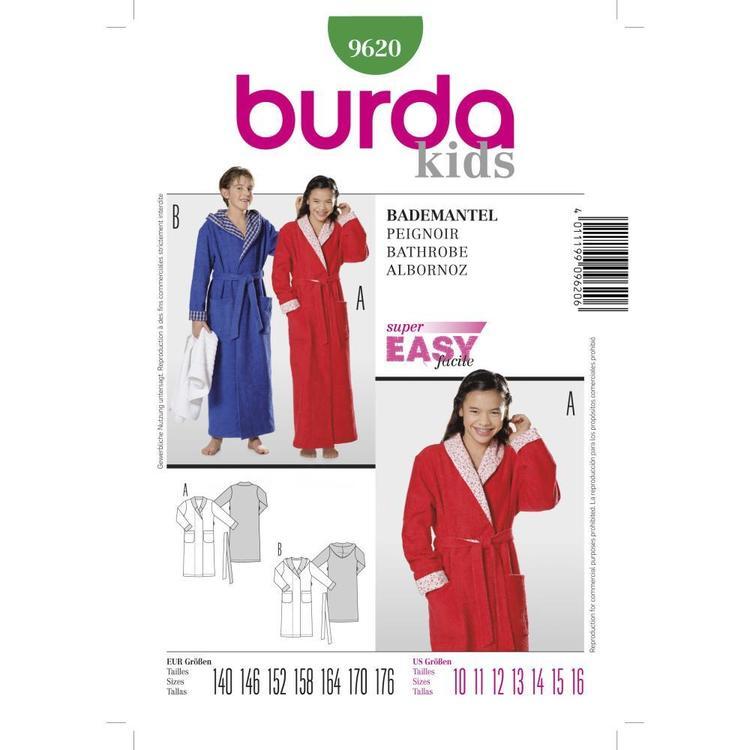 Burda Pattern 9620 Kid's Bathrobe