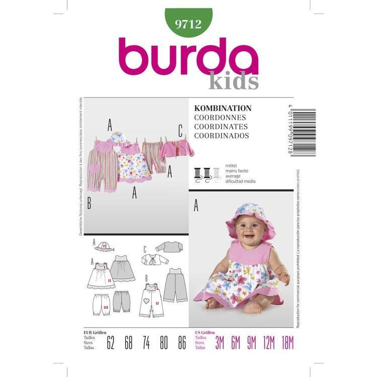 Burda Pattern 9712 Baby Coordinates
