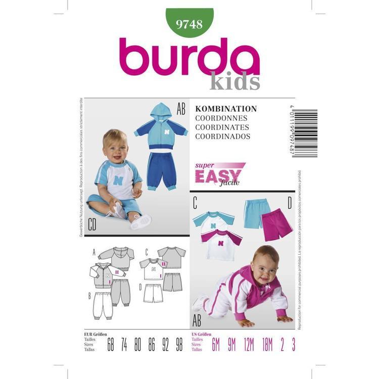 Burda Pattern 9748 Baby Coordinates
