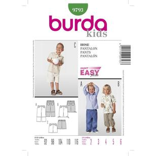 Burda Pattern 9793 Boy's Pants