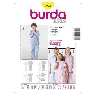 Burda Pattern 9747 Kid's Sleepwear