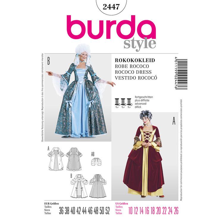 Burda Pattern 2447 Rococo Costume