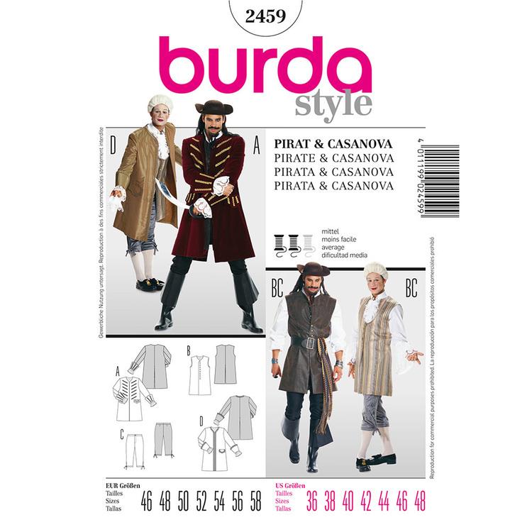 Burda Pattern 2459 Pirate & Casanova Costume