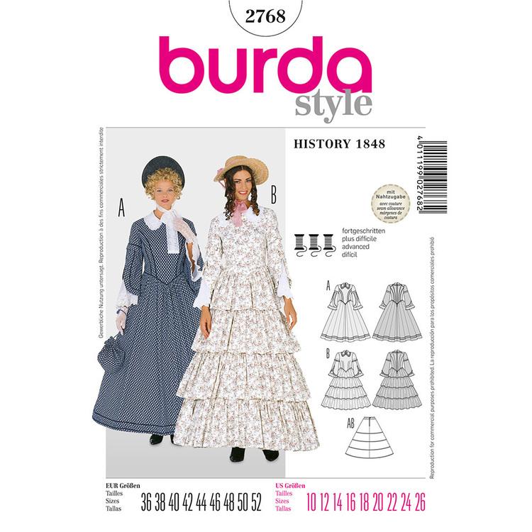 Burda Pattern 2768 Women's 1848 Costume