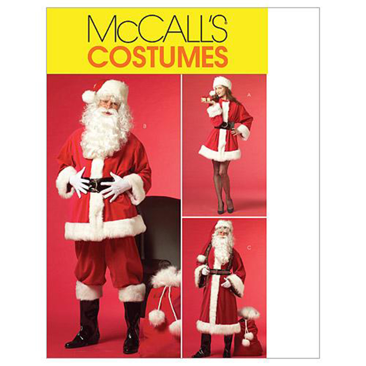 McCall's Pattern M5550 Womens' & Mens' Santa Costumes & Bag