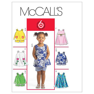 McCall's Pattern M5416 Toddlers' Tops Dresses & Shorts