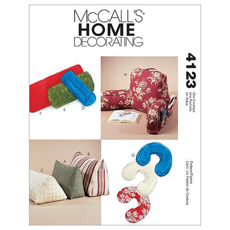 McCall's Pattern M4123 Comfort Zone Pillows & Bolsters