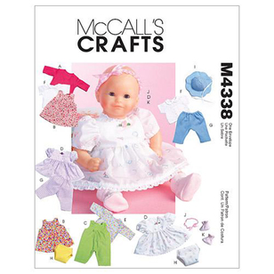 McCall's Pattern M4338 Baby Doll Clothes