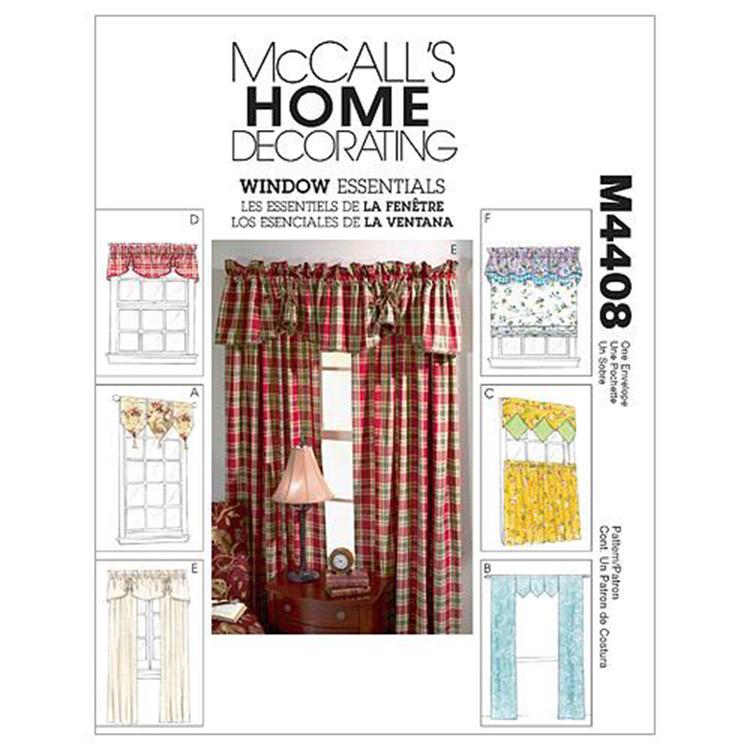 McCall's Pattern M4408 Window Essentials (Valances & Panels)