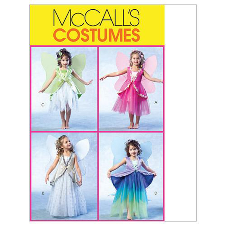 McCalls M4887 Girls' Fairy Costumes