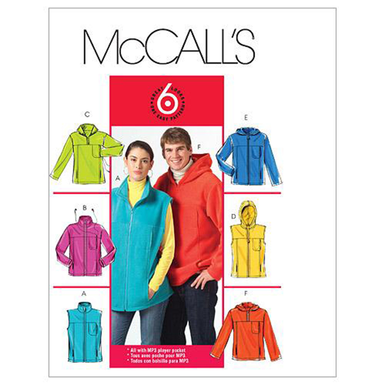 McCall's Pattern M5252 Teens' Unlined Vest & Jackets