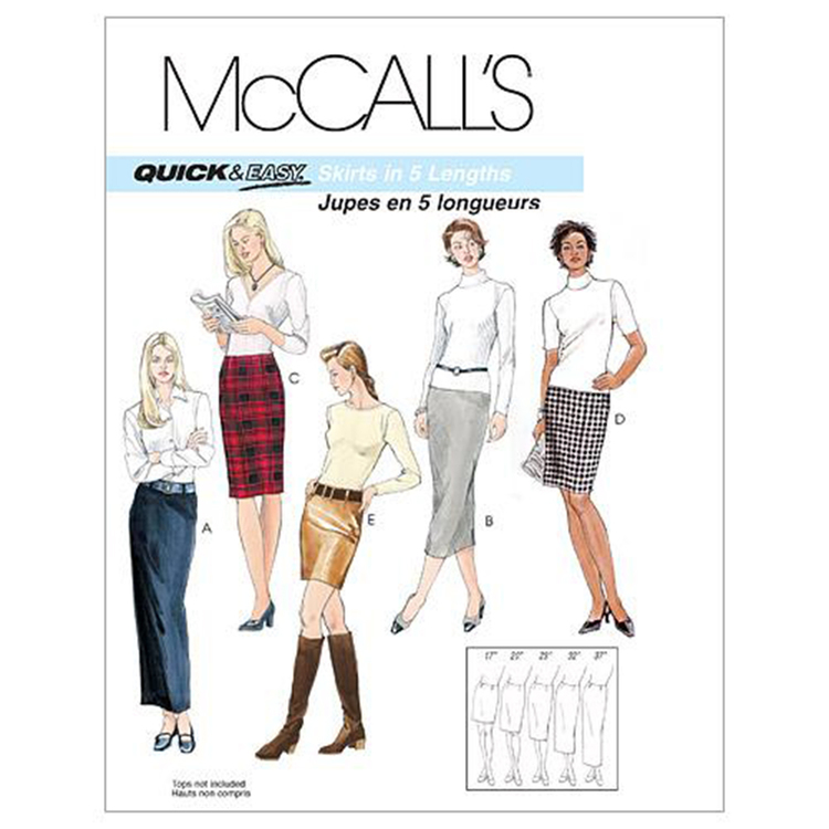 McCalls M3830 Misses' Skirts In 5 Lengths