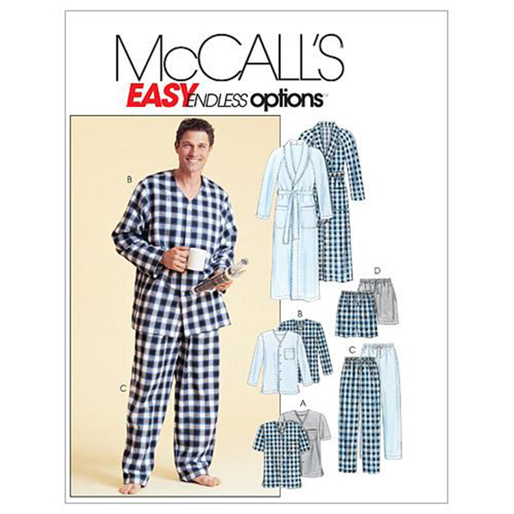 McCall's Pattern M4244 Men's Robe Belt Tops Pants & Shorts