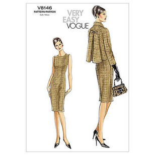 Vogue Pattern V8146 Misses' Petite Jacket & Dress