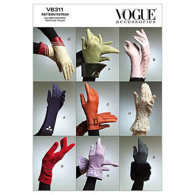Vogue Pattern V8311 Gloves