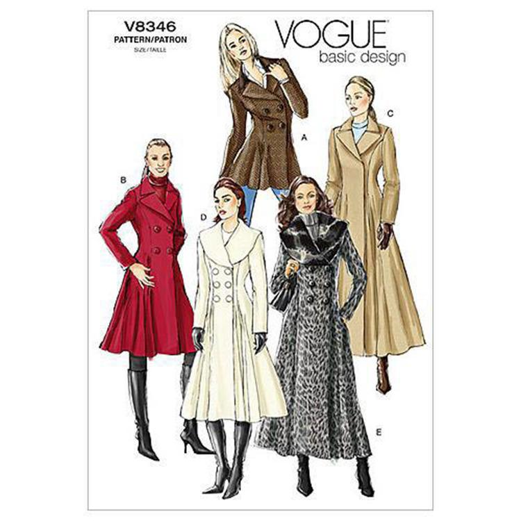 Vogue Pattern V8346 Misses' Coat