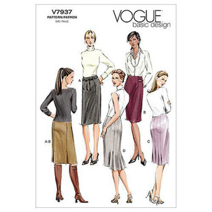 Vogue Pattern V7937 Misses' Petite Skirt