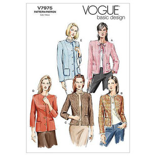 Vogue Pattern V7975 Misses' Petite Jacket