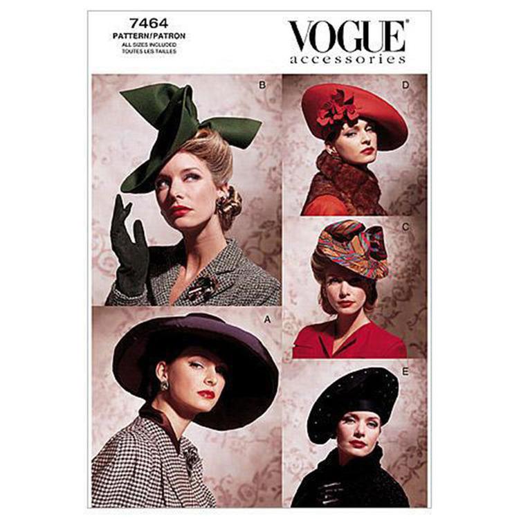 Vogue Pattern V7464 Vintage Hats