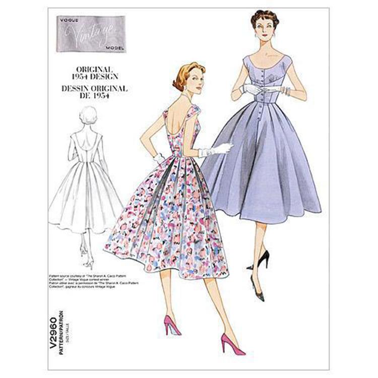 Vogue Pattern V2960 Misses' Dress