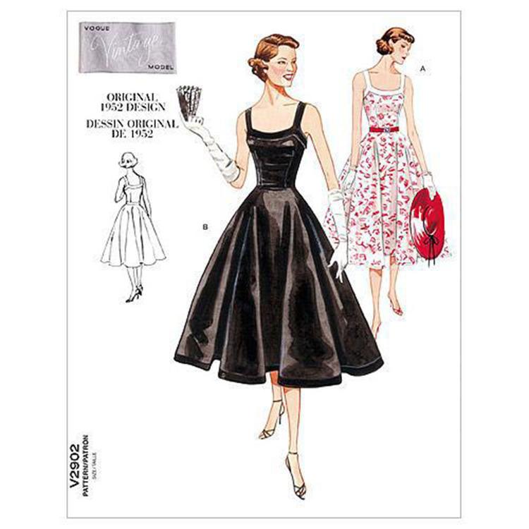 Vogue Pattern V2902 Misses' Petite Dress