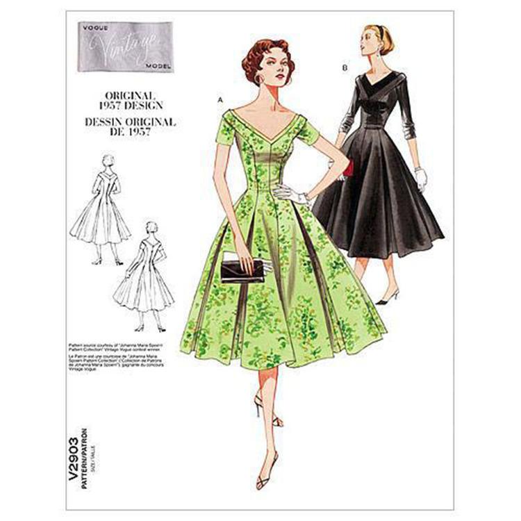 Vogue Pattern V2903 Misses' Petite Dress