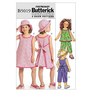 Butterick Pattern B5019 Girls' Top Dress Pants & Hat