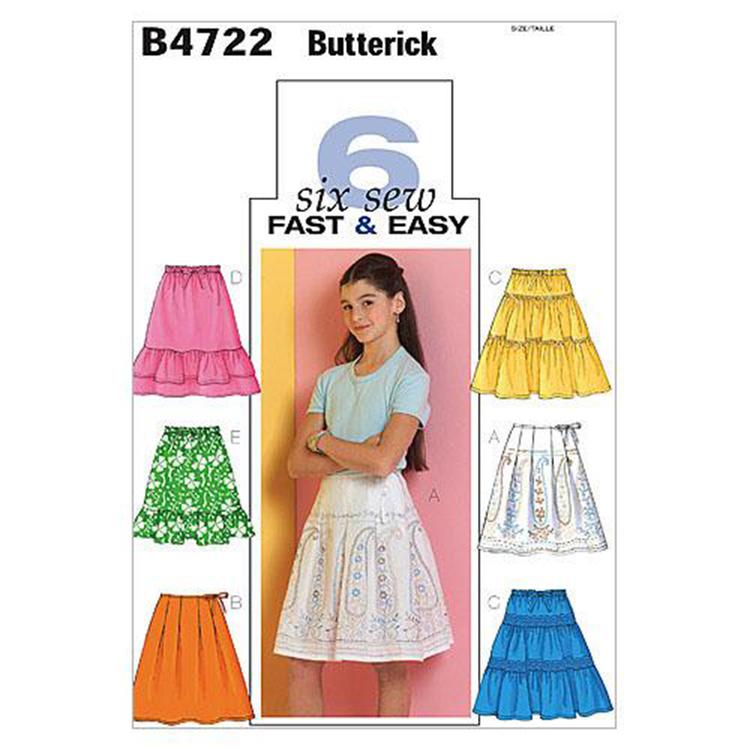 Butterick Pattern B4722 Girls' Skirt