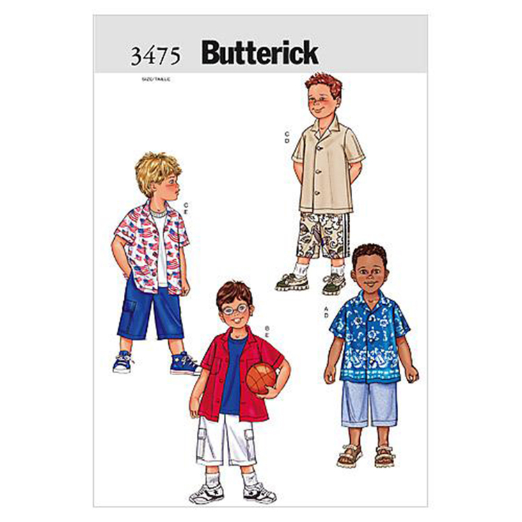 Butterick Pattern B3475 Boys' Shirt & Shorts