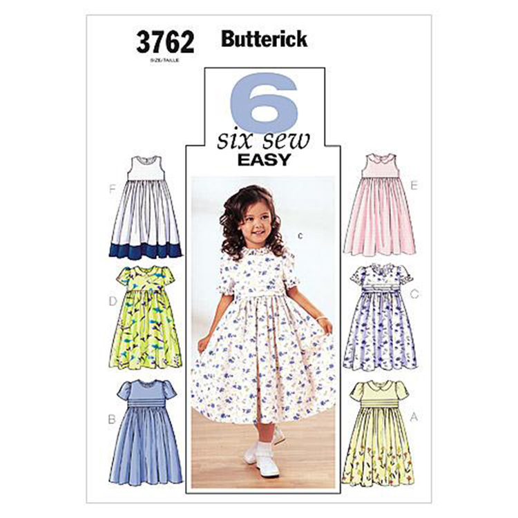 Butterick Pattern B3762 Girls' Dress