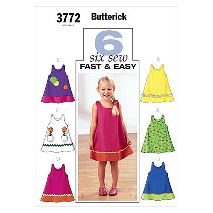 Butterick Pattern B3772 Toddlers' & Children's Dress