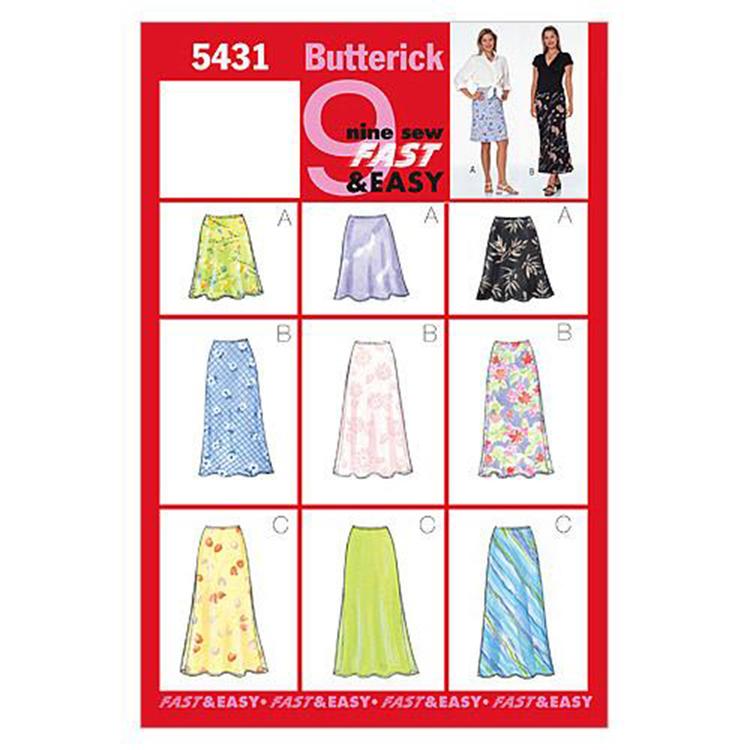 Butterick Pattern B5431 Misses' Petite Skirt