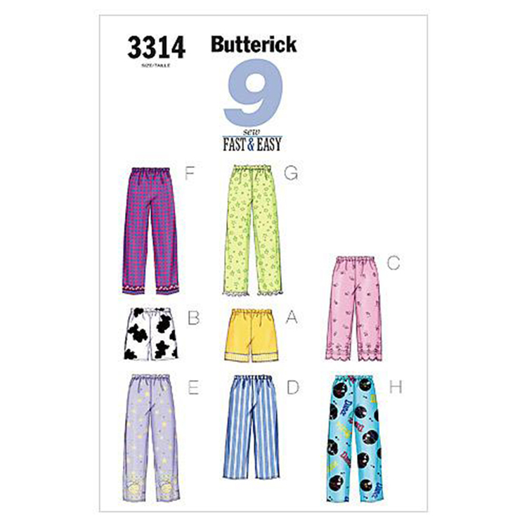 Butterick B3314 Misses' Petite Top Shorts & Pants