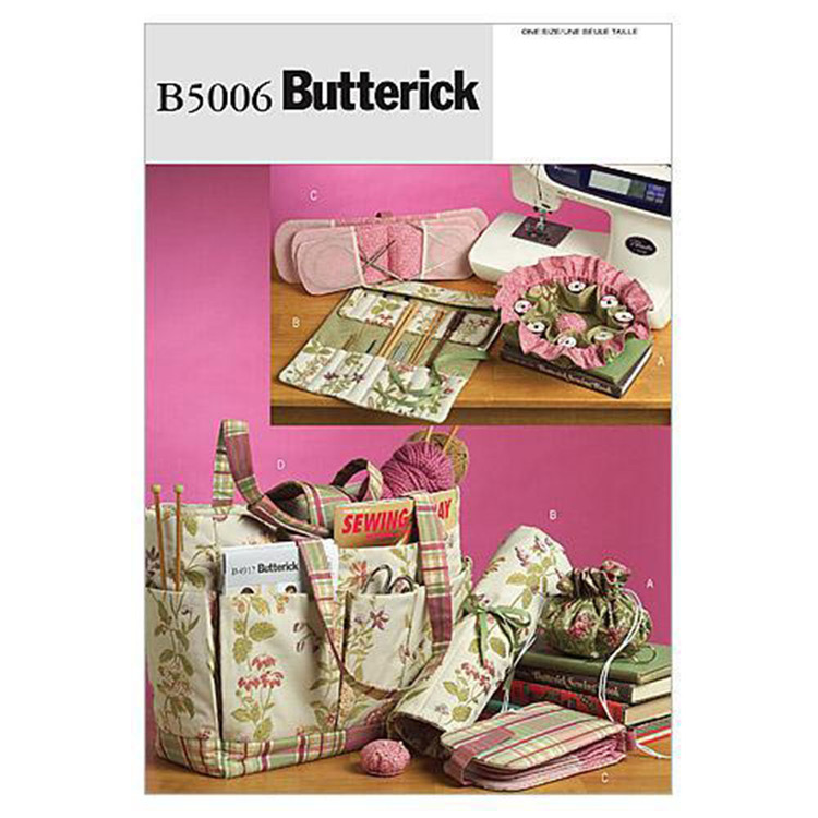 Butterick B5006 Sewing & Knitting Tote & Accessories  One Size