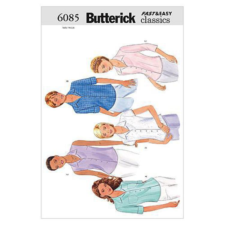 Butterick Pattern B6085 Misses' Petite Shirt
