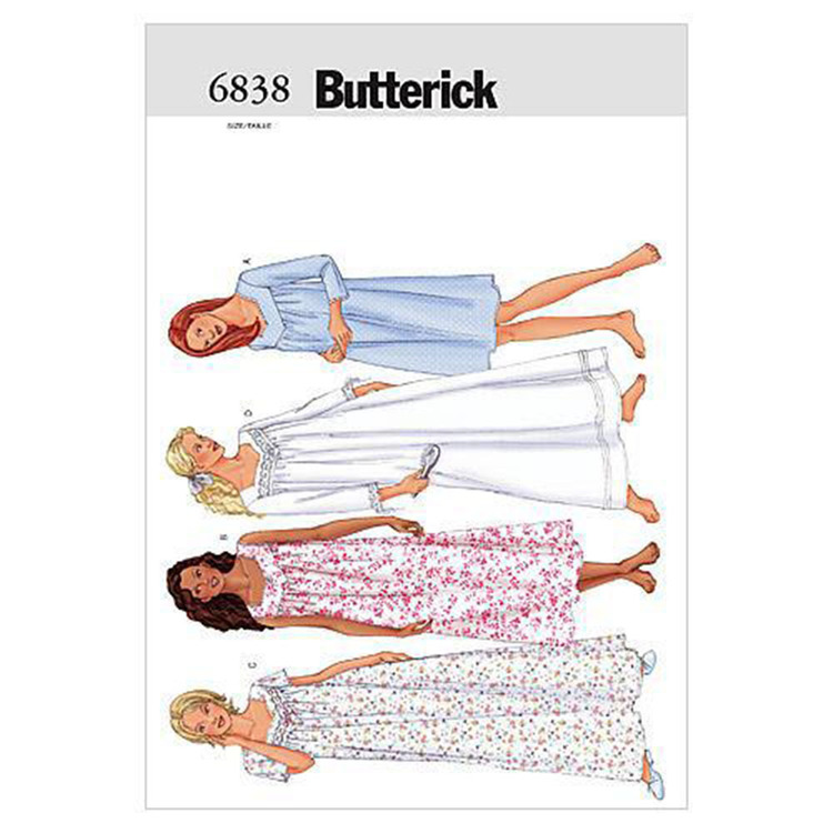 Butterick Pattern B6838 Misses' Petite Nightgown