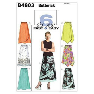Butterick Pattern B4803 Misses' Petite Skirt