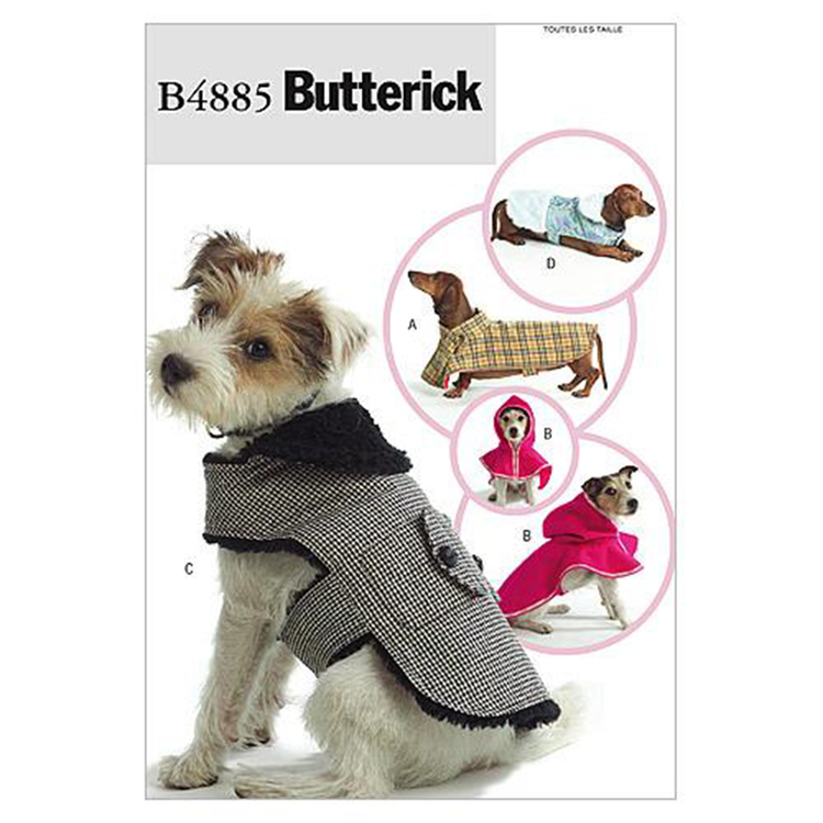 Butterick B4885 Dog Coats One Size