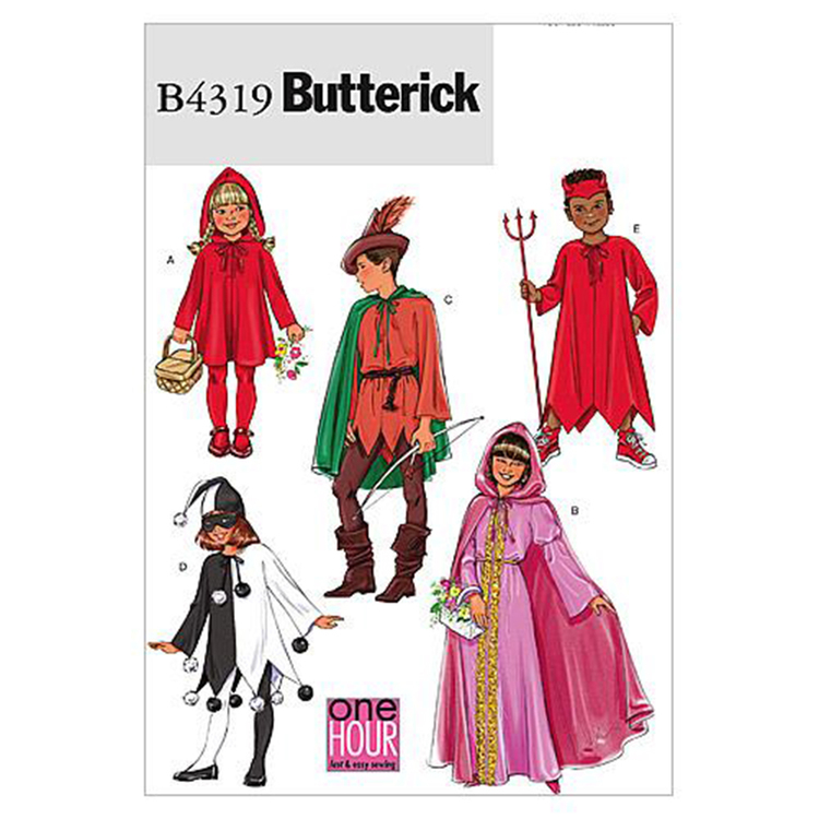 Butterick Pattern B4319 Girls' Classic Character Costumes
