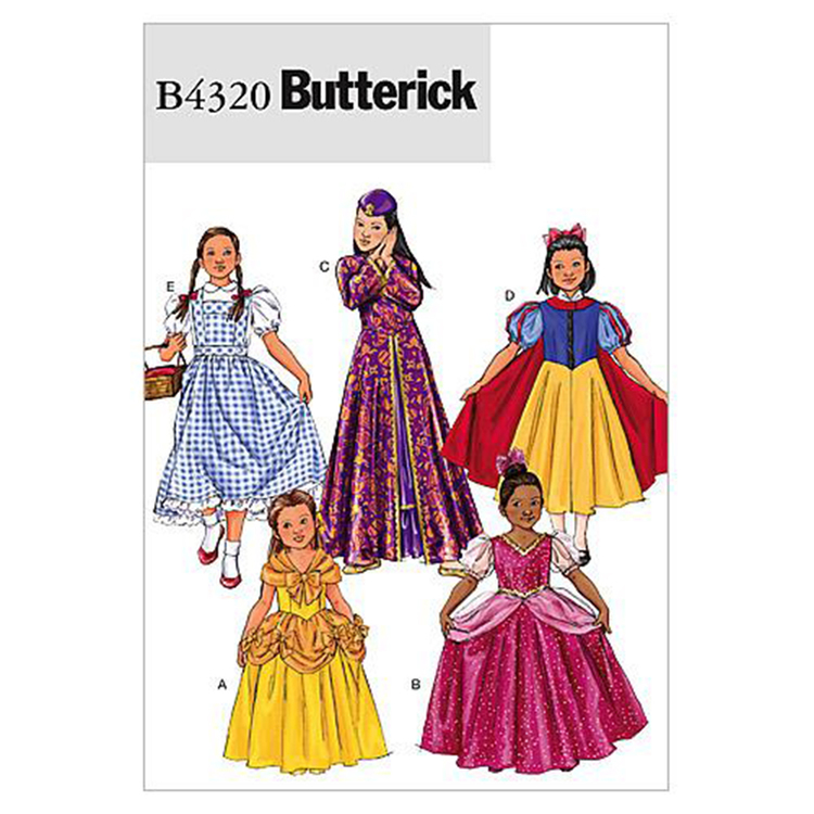 Butterick Pattern B4320 Girls' Costume