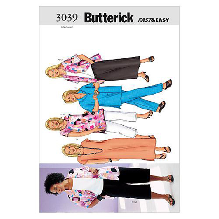 Butterick Pattern B3039 Women's Petite Shirt Top Tunic Dress Skirt & Pants