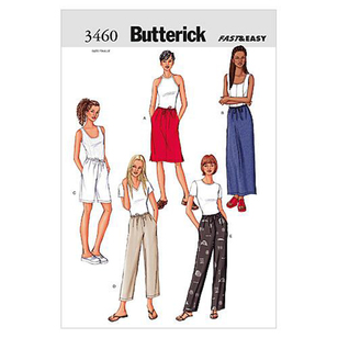 Butterick Pattern B3460 Misses' Petite Skirt Shorts & Pants