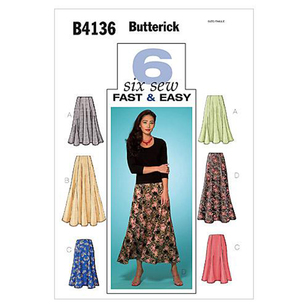 Butterick Pattern B4136 Misses' Petite Skirt
