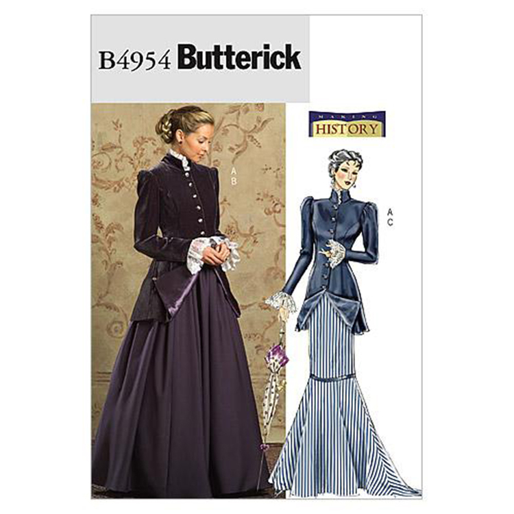 Butterick Pattern B4954 Misses' Early 20Th Century Costume