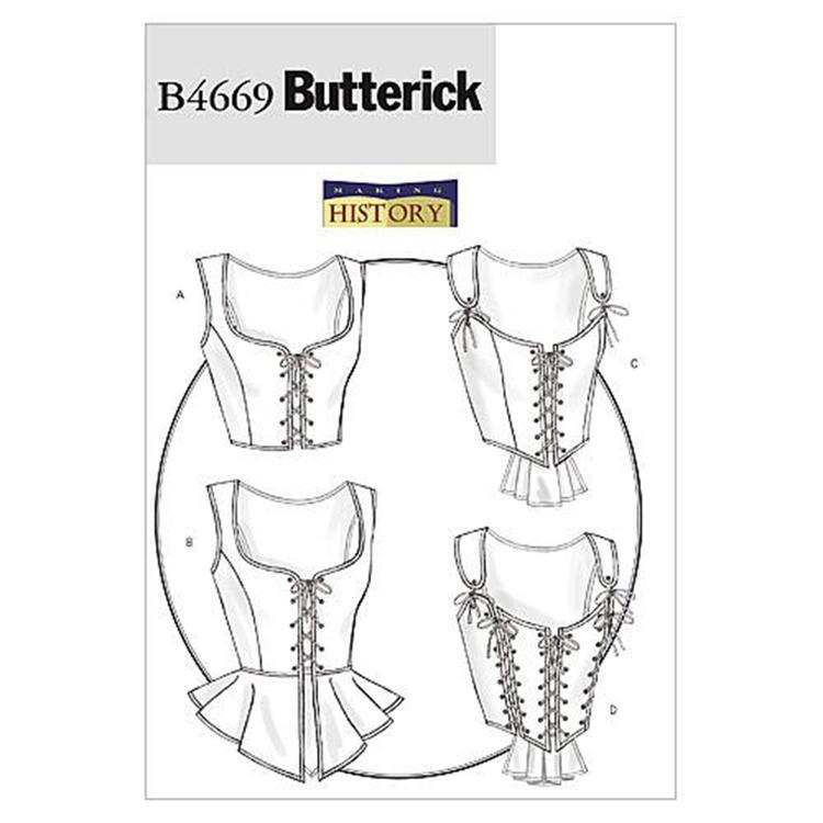 Butterick Pattern B4669 Misses' Corset
