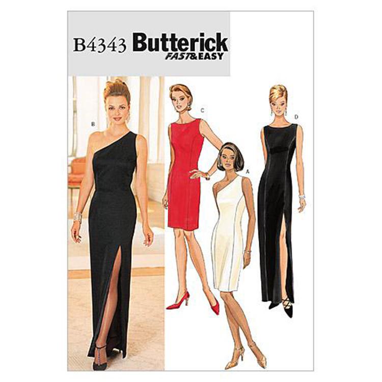Butterick Pattern B4343 Misses' Petite Lined Dress