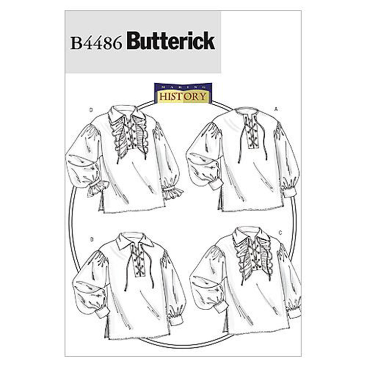 Butterick Pattern B4486 Adults' Shirt