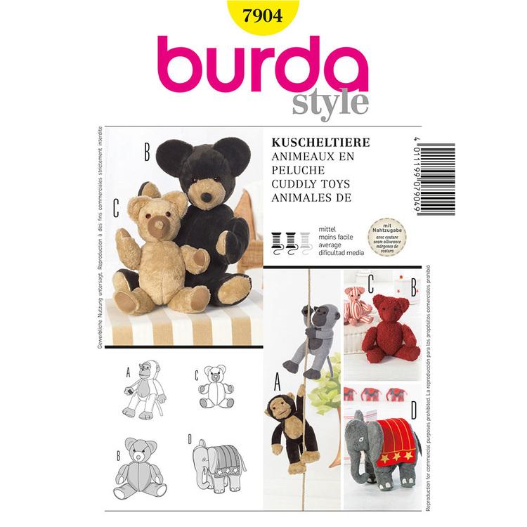 Burda Pattern 7904 Cuddle Toys
