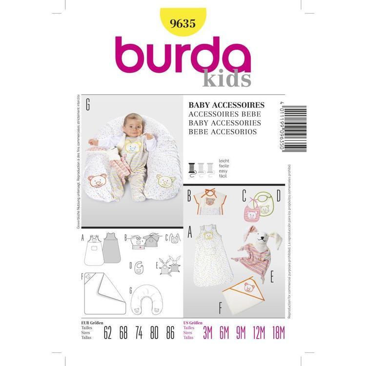 Burda Pattern 9635 Baby Accessories